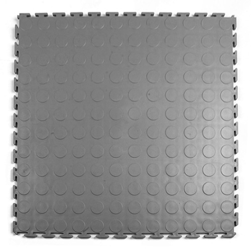 Warehouse Floor Coin PVC Tile Gray tile.