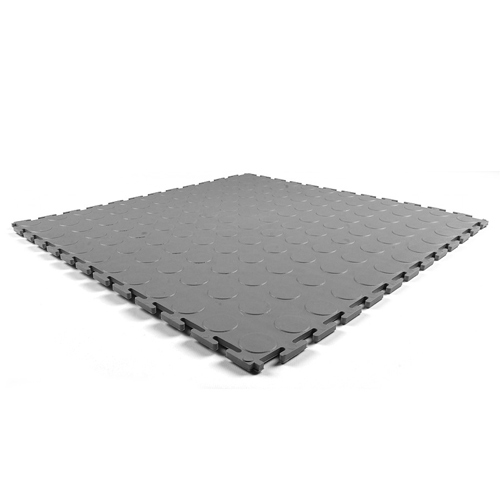 Warehouse Floor Coin PVC Tile one Gray tile.