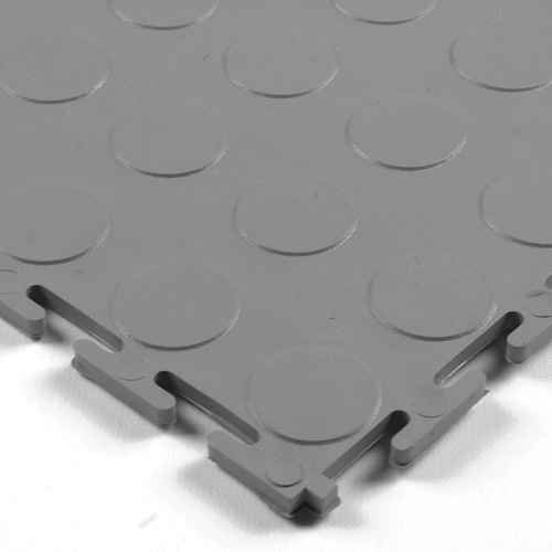 Warehouse Floor Coin PVC Tile Gray.