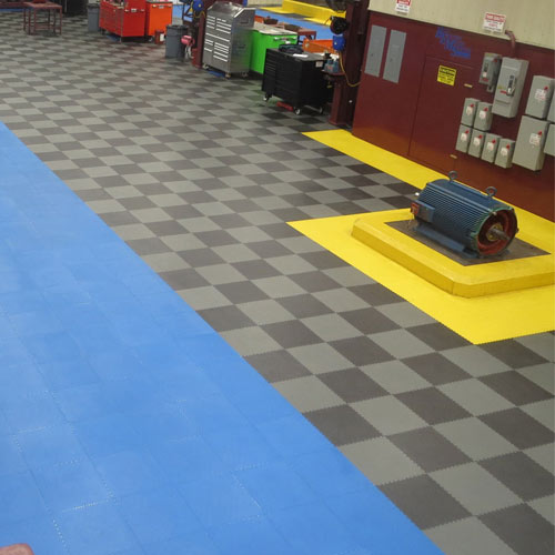 Warehouse Floor Coin PVC Tile Black Ever warehouse and garage flooring tiles.