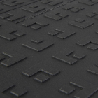 ErgoDeck HD Solid Black 18 x 18 Inch Tile