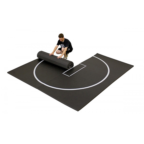 Home Wrestling Mats 10x10 Ft 1.25 Inch rolling out mats.