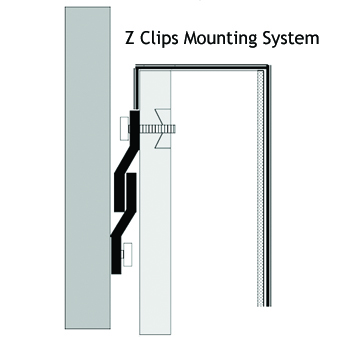 Attaching your gym wall pads is a simple procedure with Z-Clips