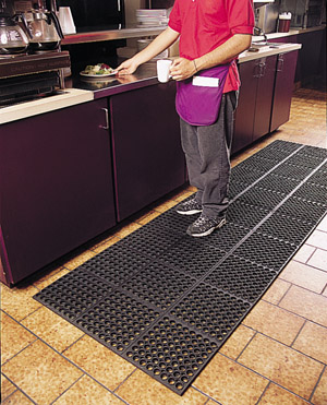 VIP-Tuffdek Rubber Black Mat 3 x 3 feet