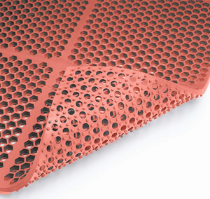 Honeycomb Medium Duty Red Mat 3 x 3 feet