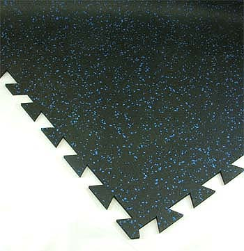 Geneva Rubber Tile 3/8 Inch 10% Colors