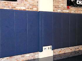 Wall Pad - 2x6 ft  x 2 inch Wood Bk - Lip TB