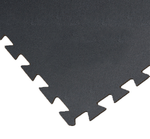 Black Rubber Mats Utility Tile 3x3 ft x 8 mm