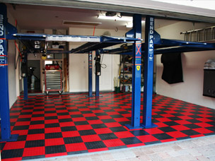 Modular Garage Floor Tile Snap Coin