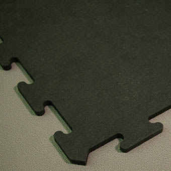 Interlocking Rubber Flooring Tiles 2x2 Ft Black