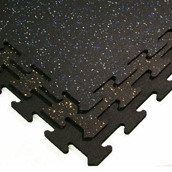 Interlocking Rubber Flooring Tiles 2x2 Ft Colors