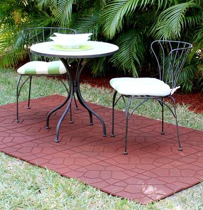 Rubber Patio Paver Tiles Outdoor Rubber Paver Patio Tile