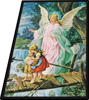 Guardian Angel 5 feet 4 inches x 7 feet 8 inches
