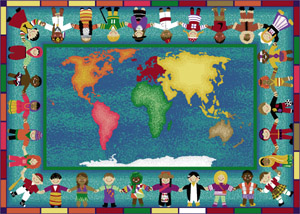 Hands Around The World 5 feet 4 inches x 7 feet 8 inches