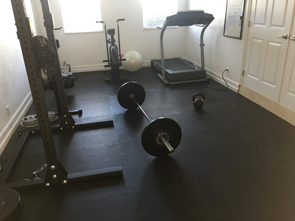 Rubber flooring tile 38 inch black rubber gym flooring tile boynton beach fl dailygadgetfo Gallery