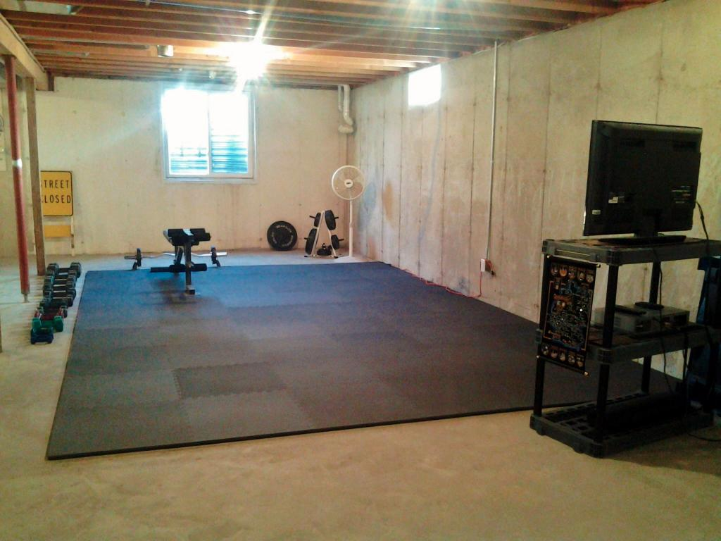 Home gym flooring over concrete droughtrelief